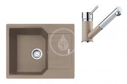 FRANKE - Sety Set G182, fragranitový dřez UBG 611-62 a baterie FG 7486.424, kašmír/kašmír (114.0619.663)