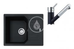 FRANKE - Sety Set G182, fragranitový dřez UBG 611-62 a baterie FG 7486.071, onyx/onyx (114.0619.665)