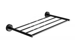 SANELA - Nerezové doplňky Nerezová polička na ručníky, délka 500 mm, matná černá (SLZD 34N)