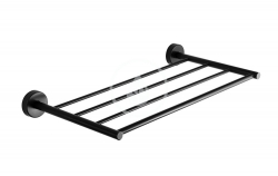 SANELA - Nerezové doplňky Nerezová polička na ručníky, délka 600 mm, matná černá (SLZD 35N)