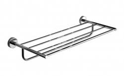 SANELA - Nerezové doplňky Nerezová polička na ručníky s hrazdou, délka 600 mm, lesklá nerez (SLZD 37)