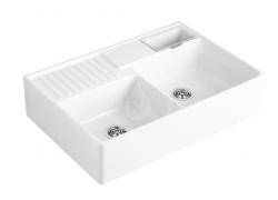 VILLEROY & BOCH - Dřezy Keramický dřez 895x630 mm s odtokem, CeramicPlus, alpská bílá (632392R1)
