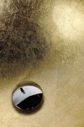 SAPHO - MURANO ORO skleněné umyvadlo kulaté 40x14 cm, zlatá (AL5318-51), fotografie 4/5