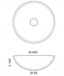 SAPHO - MURANO ORO skleněné umyvadlo kulaté 40x14 cm, zlatá (AL5318-51), fotografie 10/5
