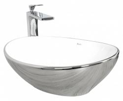 REA - Umyvadlo na desku Sofia 33,5x40,5 stříbrné (REA-U0420) 2.jakost