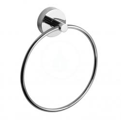 SANELA - Nerezové doplňky Nerezový kruhový držák na ručník, lesklá nerez (SLZD 05)