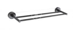 SANELA - Nerezové doplňky Nerezový dvojitý držák ručníků, délka 500 mm, matná černá (SLZD 10N)