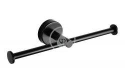 SANELA - Nerezové doplňky Nerezový dvojitý držák toaletního papíru, matná černá (SLZD 21N)
