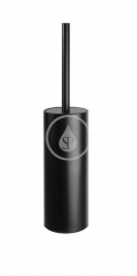 SANELA - Nerezové doplňky Nerezová WC štětka k postavení, matná černá (SLZD 30N)