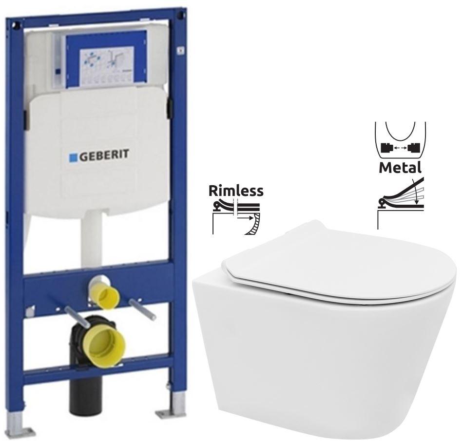 GEBERIT Duofix bez ovládací desky + WC REA TOMAS RIMFLESS + SEDÁTKO 111.300.00.5 TO1