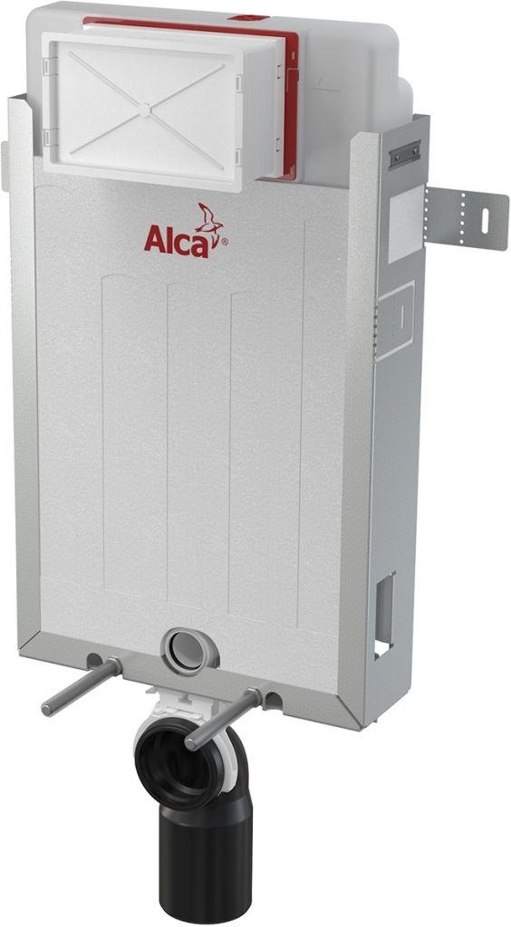 ALCAPLAST  Renovmodul - předstěnový instalační systém s chromovým tlačítkem M1721 + WC REA TOMAS RIMFLESS  + SEDÁTKO (AM115/1000 M1721 TO1)