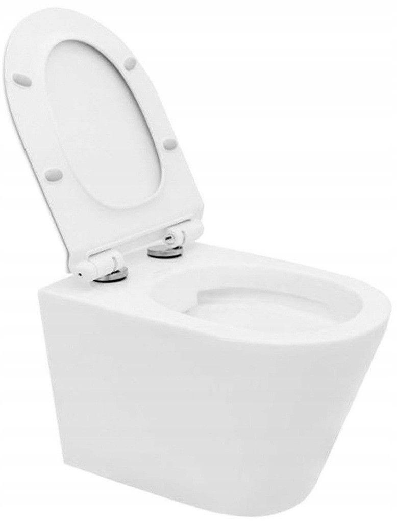 JIKA předstěnový instalační 8 cm systém bez tlačítka + WC REA TOMAS RIMFLESS  + SEDÁTKO (H894652 X TO1)