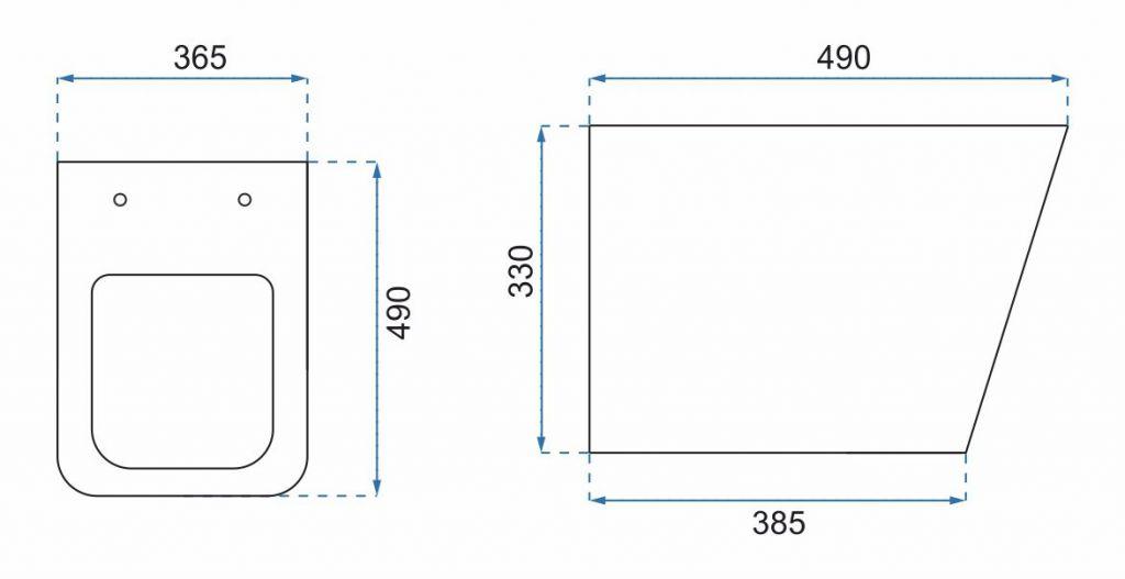 LAUFEN Podomít. systém LIS TW1 SET s chromovým tlačítkem + WC REA TOMAS RIMFLESS  + SEDÁTKO (H8946630000001CR TO1)