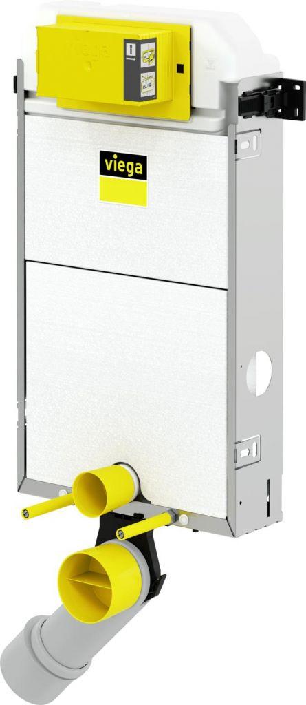 VIEGA Presvista modul PURE pro WC včetně tlačítka Style 20 bílé + WC REA TOMAS RIMFLESS  + SEDÁTKO (V771928 STYLE20BI TO1)