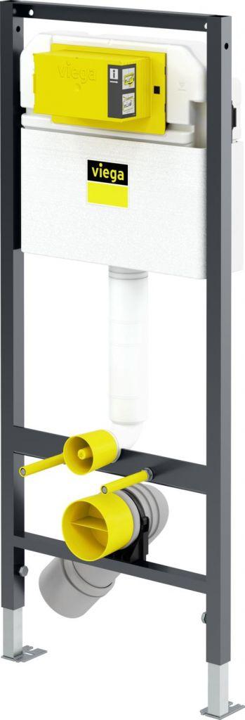 VIEGA Presvista modul DRY pro WC včetně tlačítka Style 20 bílé + WC REA TOMAS RIMFLESS  + SEDÁTKO (V771973 STYLE20BI TO1)