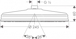 AXOR - Carlton Hlavová sprcha, průměr 240 mm, chrom (28474000), fotografie 4/2