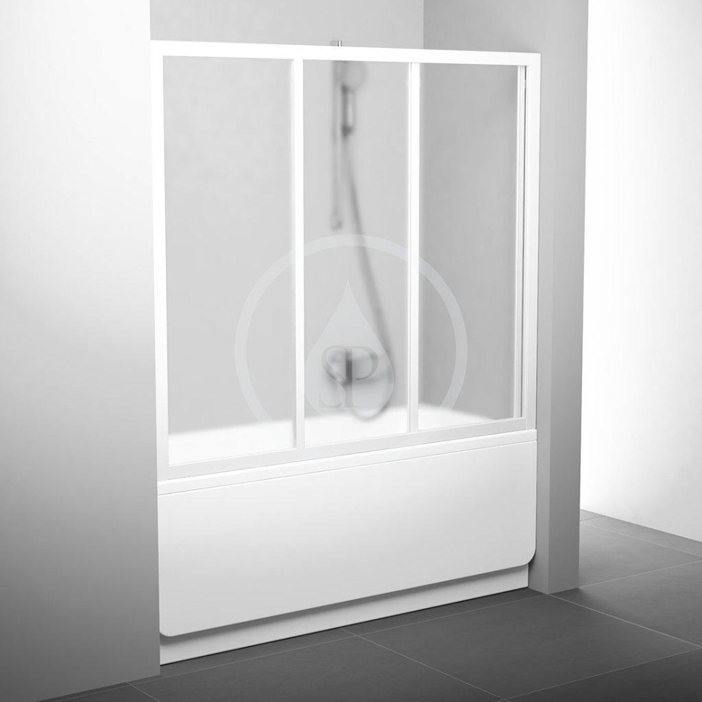 RAVAK Supernova Vanové dveře třídílné AVDP3-150, 1470-1510 mm, bílá/sklo Grape 40VP0102ZG
