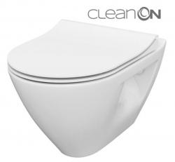 CERSANIT - SET B292 závěsná mísa MILLE PLUS CLEAN ON včetně dur. sedátka SLIM (S701-454)