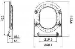 LAUFEN Podomít. systém LIS TW1 SET s chromovým tlačítkem + WC CERSANIT ZEN CLEANON + SEDÁTKO (H8946630000001CR HA1), fotografie 2/8