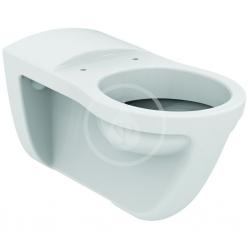 IDEAL STANDARD - Contour 21 Závěsný klozet 700 x 355 x 350 mm s plochým splachováním pro tělesně postižené, bílá s Ideal plus (S3111MA)