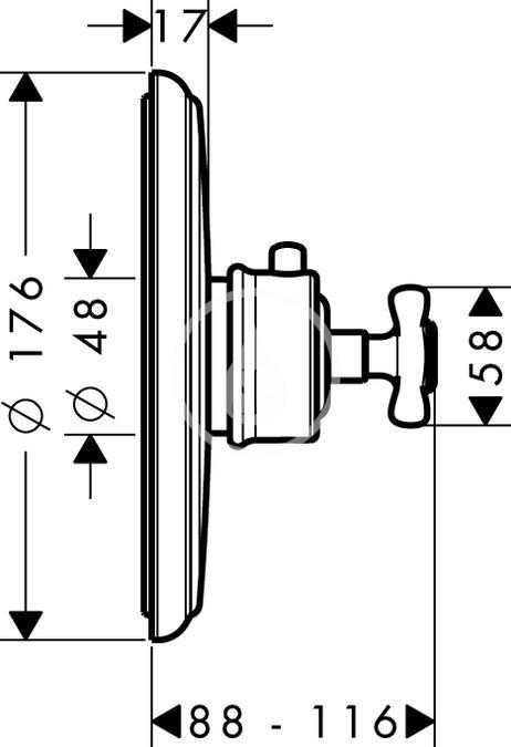 AXOR - Montreux Highflow termostatická baterie pod omítku, chrom (16815000)
