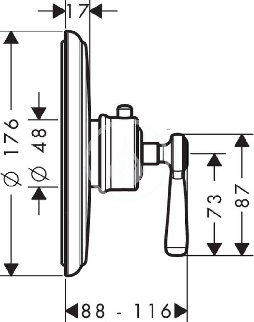 AXOR - Montreux Termostatická baterie pod omítku, kartáčovaný nikl (16823820)