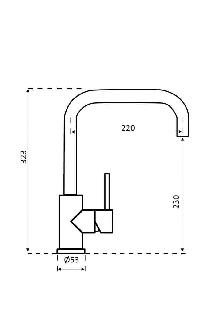 Reginox - Dřezová baterie CRYSTAL COPPER, kartáčovaný nikl-měď (R30523)