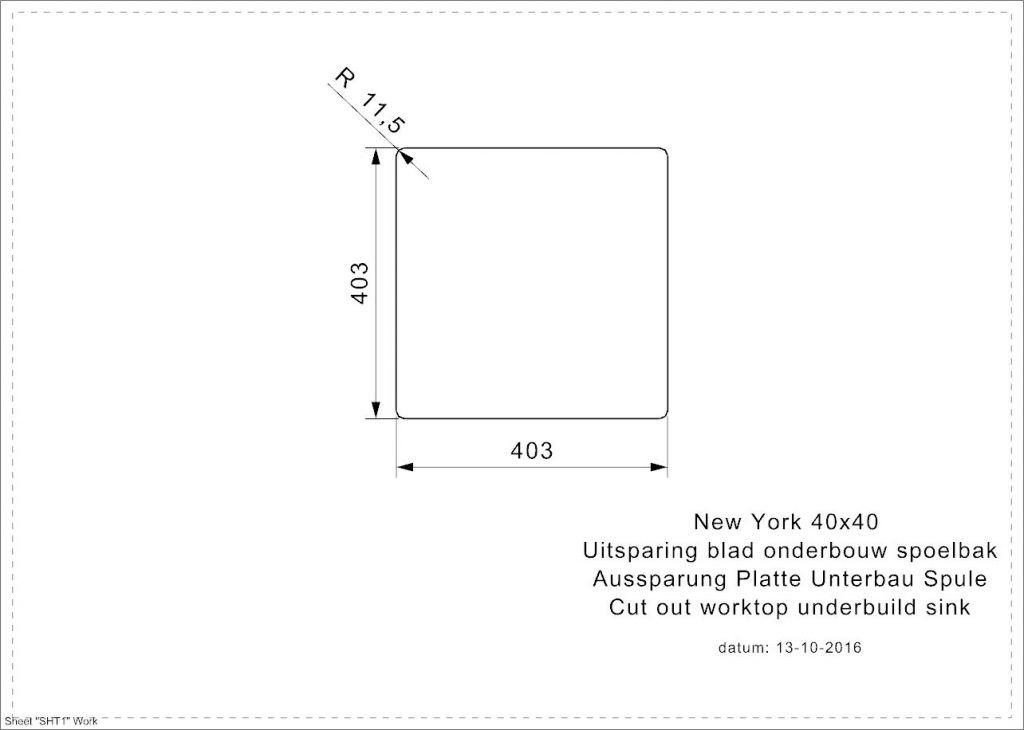 Reginox - Nerezový dřez New York 40x40, sítko comfort (R27639)