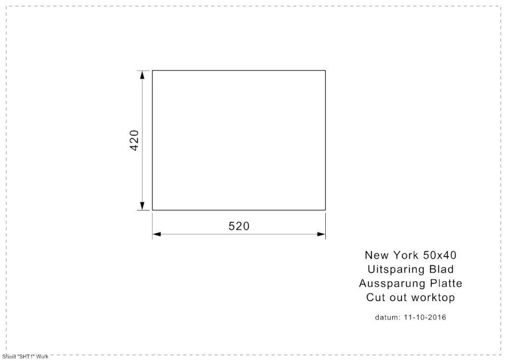 Reginox - Nerezový dřez New York 50x40, sítko comfort (R27646)