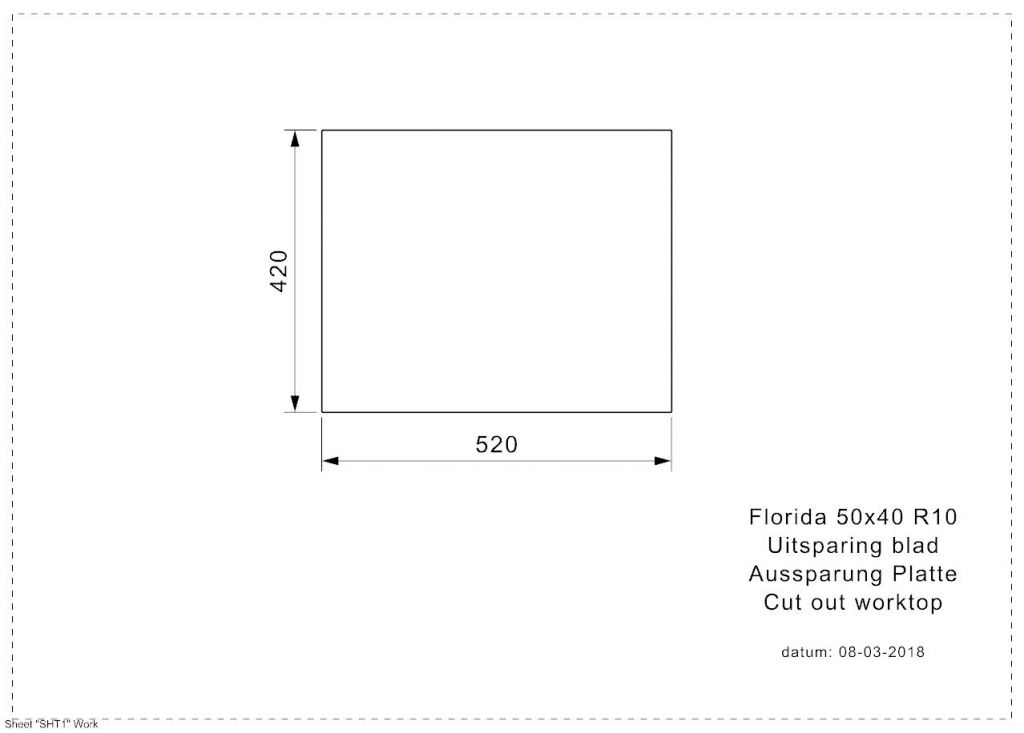 Reginox - Nerezový dřez Florida 50x40 (R26281)