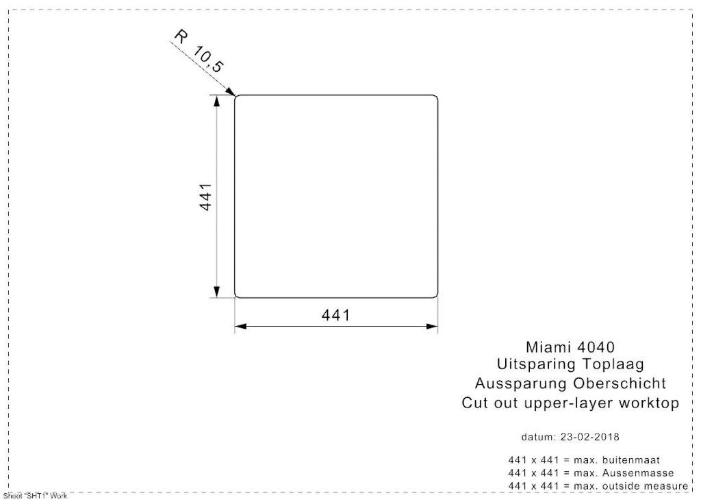 Reginox - Nerezový dřez Miami 40x40, zlatá (R30714)