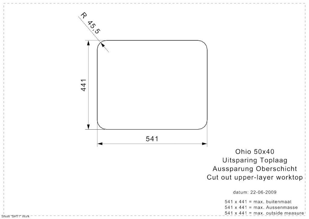 Reginox - Nerezový dřez Ohio 50x40, Jet black (R32718)