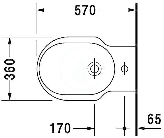 DURAVIT - Bathroom_Foster Stojící bidet, s přepadem, bílá (0134100000)