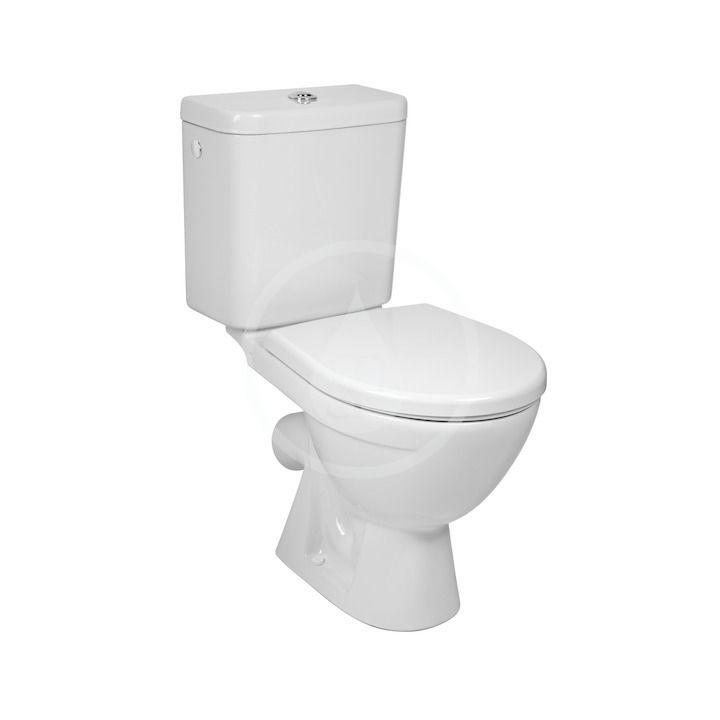 JIKA Lyra plus Kombinační klozet včetně nádržky, 630x360x770 mm, Dual Flush, spodní napouštění, bílá