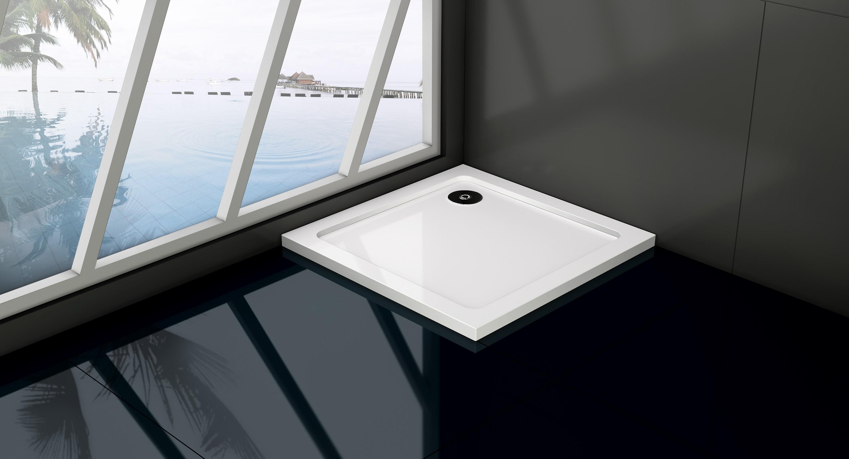 HOPA Čtvercová mramorová sprchová vanička VENETS Rozměr A 70 cm, Rozměr B 70 cm VANKCTVE70