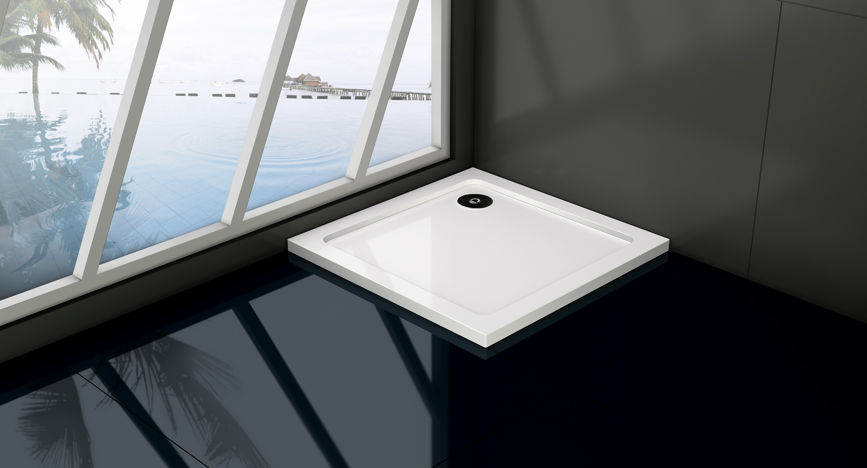 HOPA Čtvercová mramorová sprchová vanička VENETS Rozměr A 90 cm, Rozměr B 90 cm VANKCTVE90