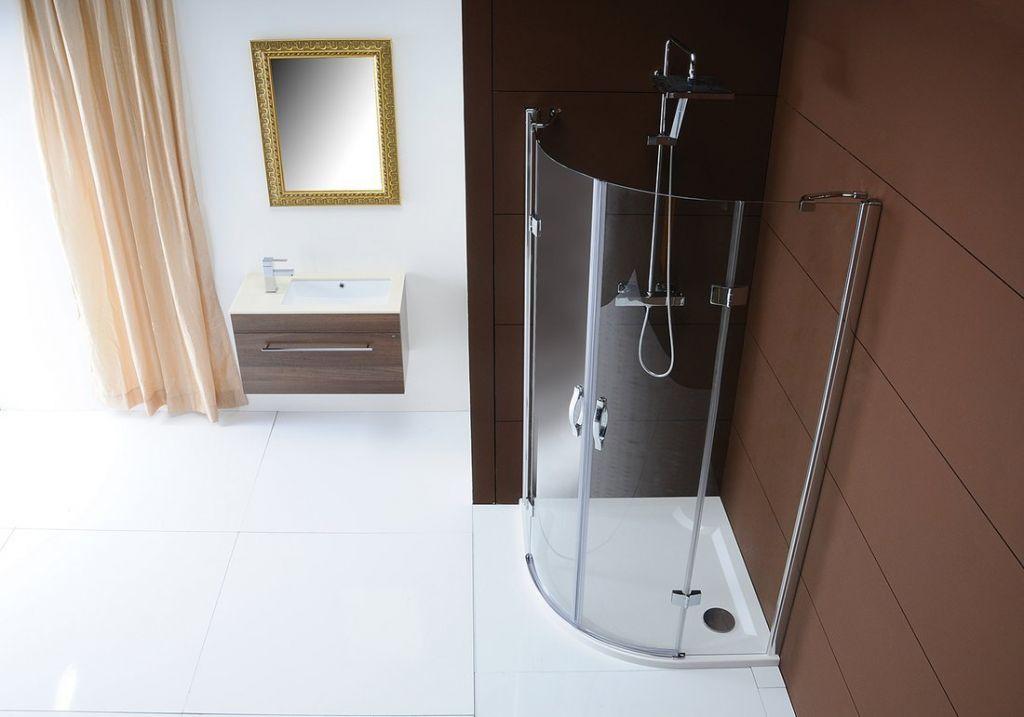 GELCO - LEGRO čtvrtkruhová sprchová zástěna dvoukřídlá 900x900mm, čiré sklo (GL5590)