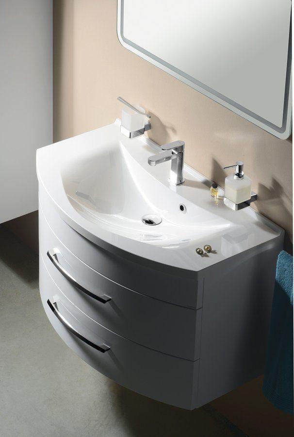 SAPHO - ARAS umyvadlo 90x50,5cm, litý mramor, bílá (90911)