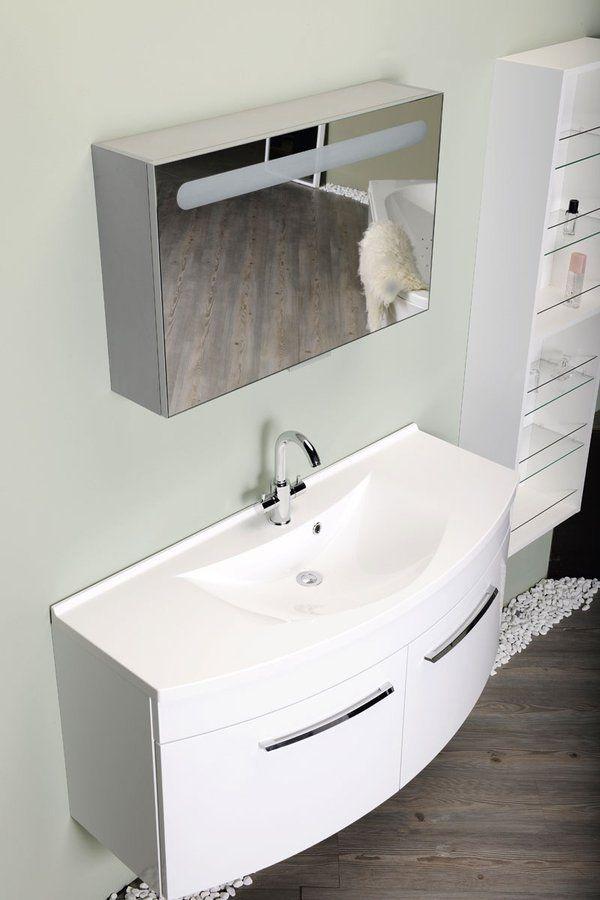 SAPHO - ARAS umyvadlo 120x50,5cm, litý mramor, bílá (91211)