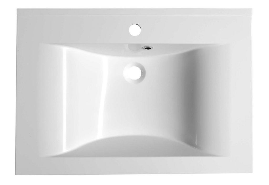 SAPHO - FLAVIA umyvadlo 70x50cm, litý mramor, bílá (68071)