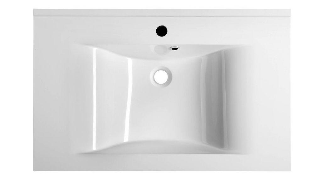 SAPHO - FLAVIA umyvadlo 80x50cm, litý mramor, bílá (68081)