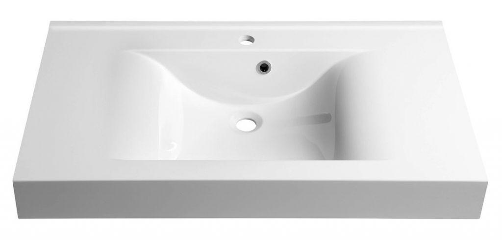 SAPHO - FLAVIA umyvadlo 90x50cm, litý mramor, bílá (68091)
