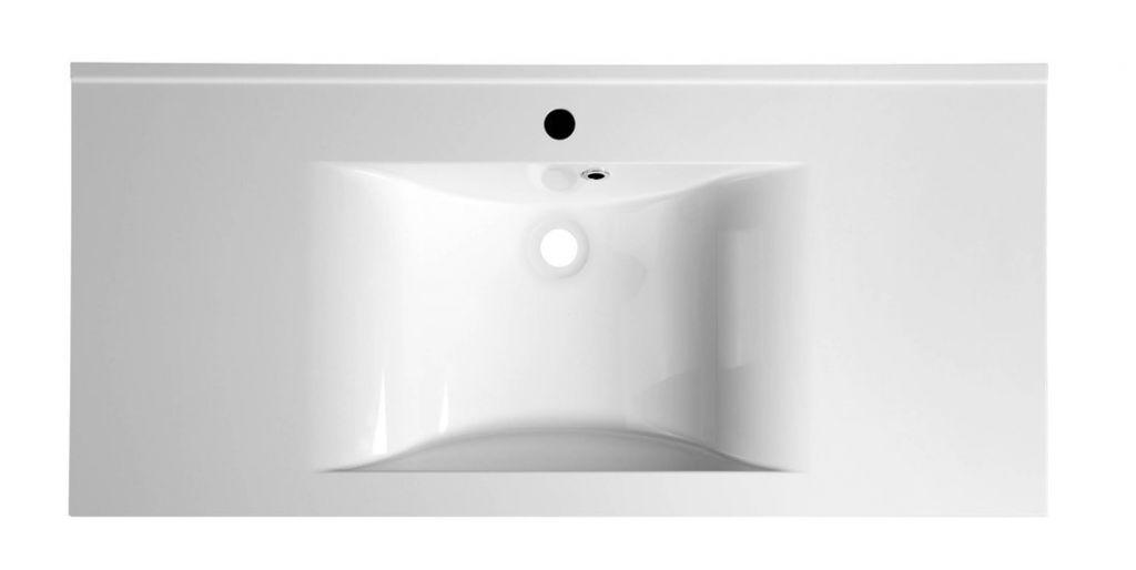 SAPHO - FLAVIA umyvadlo 110x50cm, litý mramor, bílá (68101)