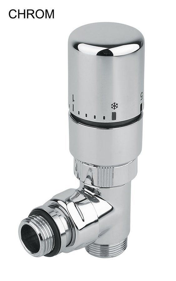 SAPHO - CORNER COMBI připojovací sada ventilů termostatická, pravé provedení, chrom (CP3022)