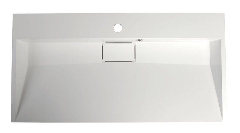 SAPHO - AMUR umyvadlo 90x46 cm, litý mramor, bílá (55032)