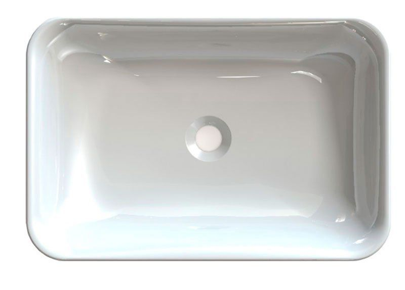 SAPHO - ASTORIA umyvadlo 55x37 cm, litý mramor, bílá (55033)