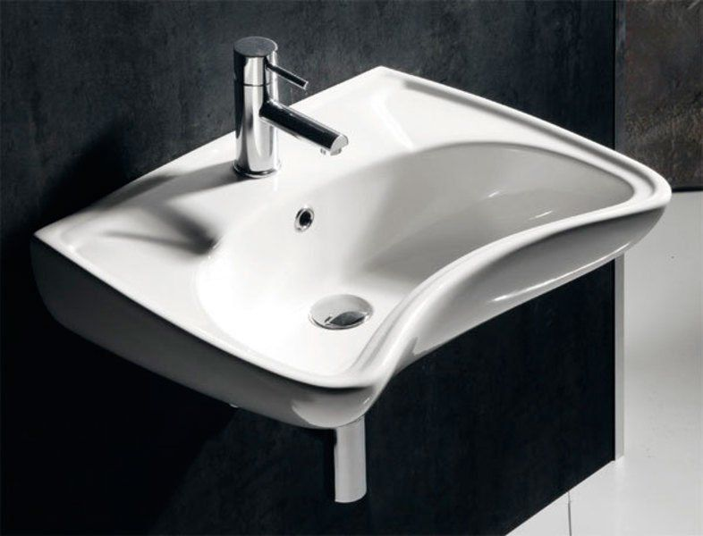 SAPHO - DISABLED keramické umyvadlo 59x45,5cm, pro tělesně handicapované (10TP60060)