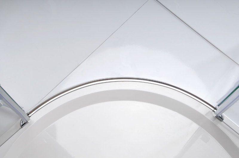 GELCO - LEGRO čtvrtkruhová sprchová zástěna jednokřídlá 900x900mm, čiré sklo (GL6590)