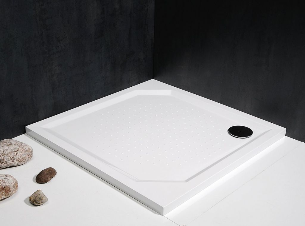 GELCO - ANETA90 sprchová vanička z litého mramoru, čtverec 90x90x4cm (GA009)