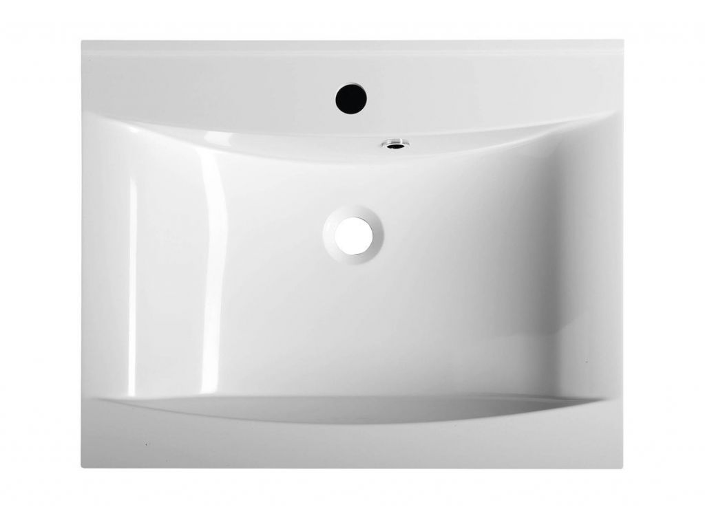 SAPHO - LUCIOLA umyvadlo 60x48cm, litý mramor, bílá (50062)